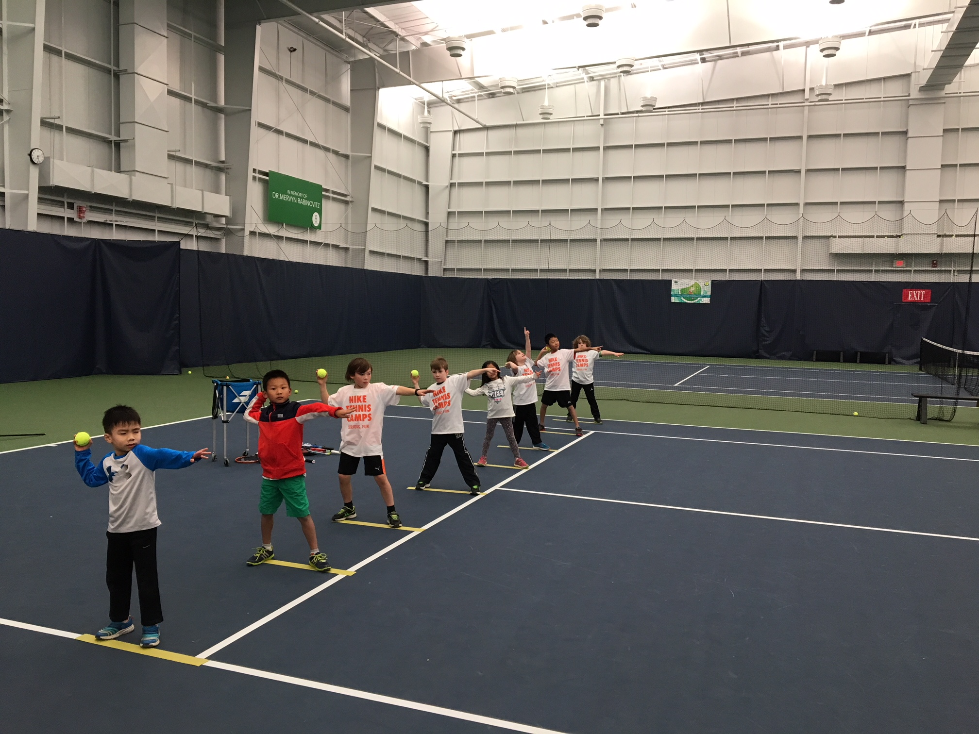 nike winter tennis camp was a smash with players!